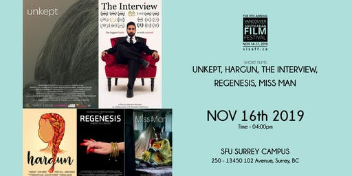 Unkept, Hargun, The Interview, Regenesis, Miss Man