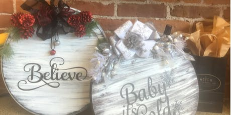 New Class! Holiday Board Painting & Wine tickets