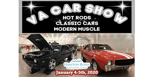 VA Car Show Jan 4 -5, 2020 at Hampton Roads Convention Center