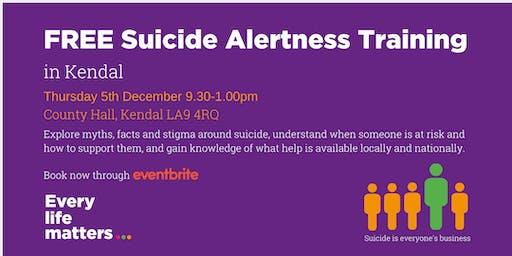 Suicide Alertness Training - Kendal