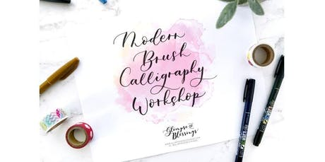 Modern Brush Calligraphy Workshop [Thanksgiving and Christmas Holiday Art] (2019-12-14 starts at 11:00 AM) tickets