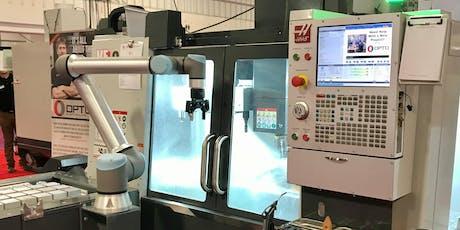 Robotics and Machine tending with Universal Robots and Robotiq tickets
