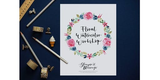 Floral Watercolor Wreath Workshop [Thanksgiving and Christmas Holiday Art] (2019-11-23 starts at 11:00 AM)