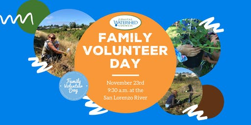 National Family Volunteer Day at the San Lorenzo River
