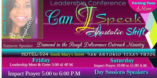Can I Speak 'Apostolic Shift ' Leadership Conference 2020