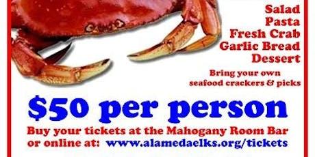 Alameda Elks 2020 Crab Feed tickets