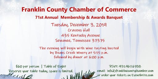 Franklin Co. Chamber of Commerce 71st Annual Awards Banquet