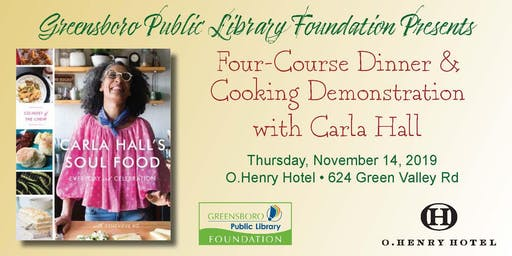 Carla Hall  - Cooking Demonstration & Four Course Dinner