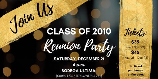 Augusta Prep 10-Year Reunion Party