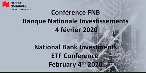 Conférence FNB Banque Nationale Investissements 04/02/2020