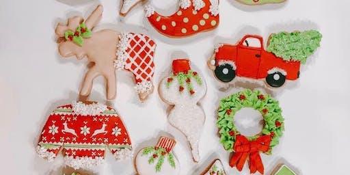 Beginner Hand Iced Christmas Cookies