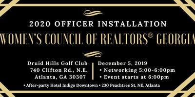 2020 Installation of Officers - Women's Council of REALTORS® Georgia