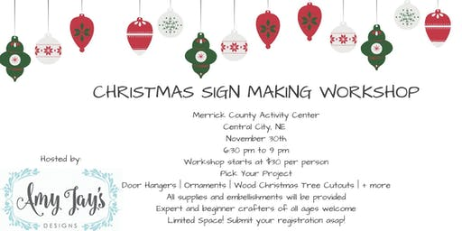 Christmas Sign Making Workshop