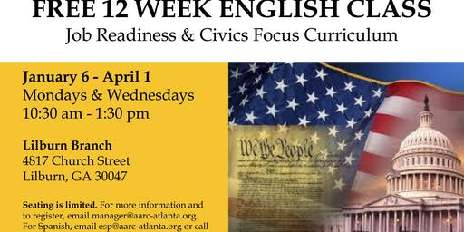 Free 12 Week English Class