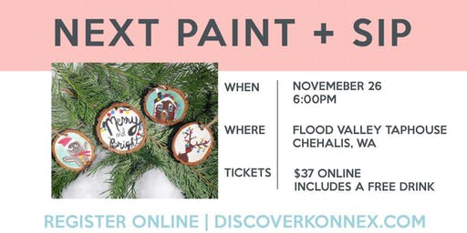 Christmas Ornament Sip and Paint Party