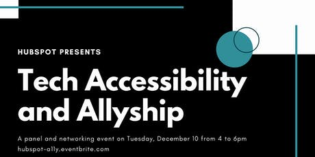 HubSpot presents: Tech Accessibility and Allyship tickets