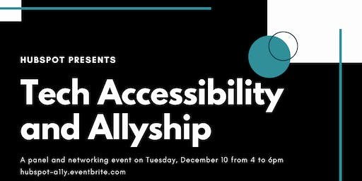 HubSpot presents: Tech Accessibility and Allyship