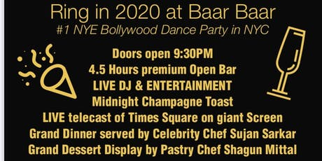Ring in 2020 at Baar Baar - Bollywood Party tickets