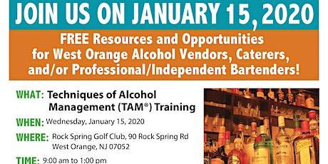 West Orange Techniques of Alcohol Management (TAM) Training tickets