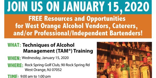 West Orange Techniques of Alcohol Management (TAM) Training