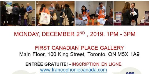 TORONTO EXPRESS BILINGUAL JOB FAIR – December 2nd, 2019