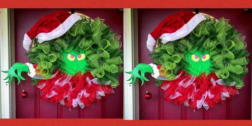 Grinch Wreath Making Class-Paint and Sip
