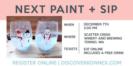 SOLD OUT! Winter Wine Glass Painting Class