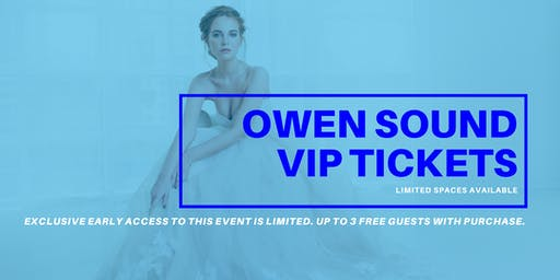 Opportunity Bridal VIP Early Access Owen Sound Pop Up Wedding Dress Sale