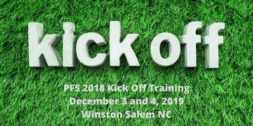 PFS 2018 Kick Off Training