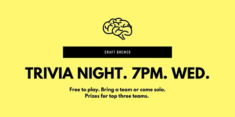 Trivia Night at Craft Brewed tickets