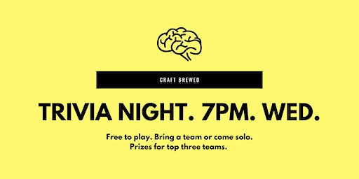 Trivia Night at Craft Brewed