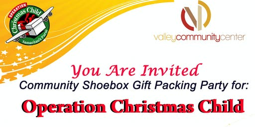 Special Needs Hour - Operation Christmas Child 1000 BoxPacking Party