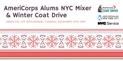AmeriCorps Alums NYC Mixer & Winter Coat Drive