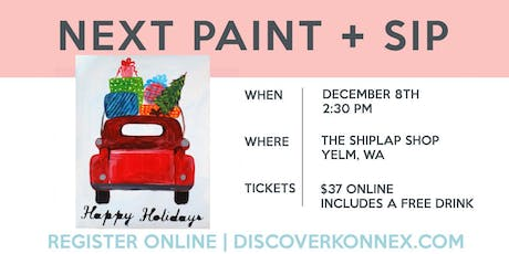 SOLD OUT! Holiday paint and sip class tickets