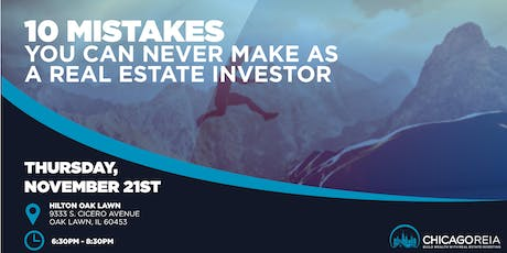 10 MISTAKES You Can NEVER Make  As a Real Estate Investor tickets