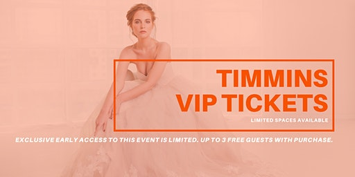 Opportunity Bridal VIP Early Access Timmins Pop Up Wedding Dress Sale
