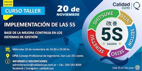 IMPLEMENTACIÓN DE LAS 5S - 3° Edición entradas