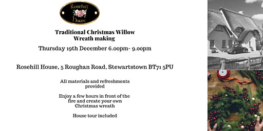 Traditional Christmas Willow Wreath Making