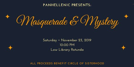 Masquerade & Mystery tickets