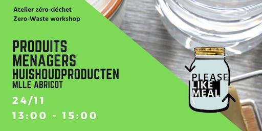 Atelier Produits Ménager-Lessive I Huishoudproducten-Wasmiddel Workshop