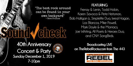 Soundcheck 40th Anniversary Concert & Party tickets