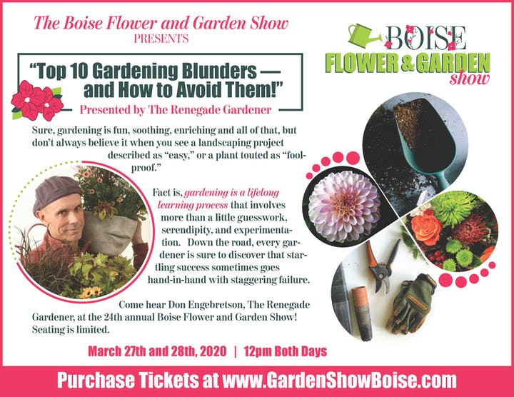 Boise Home And Garden Show 2020.Boise Flower Garden Show Tickets Fri Mar 27 2020 At 10