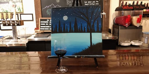 """Winter Nights"" Paint n Sip"