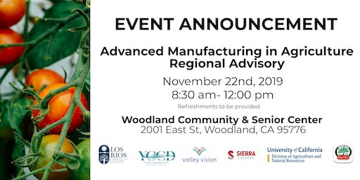 Advanced Manufacturing in Agriculture  Regional Advisory
