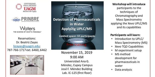 Detection of Pharmaceuticals in Water Applying UPLC/MS