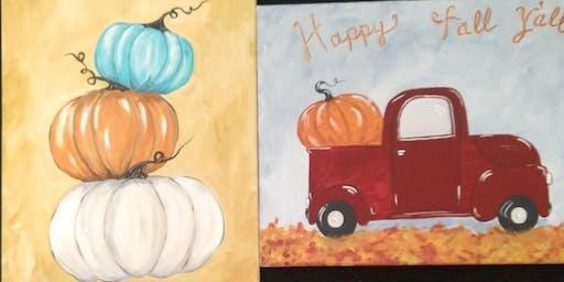 It's fall ya'll 2 paint night