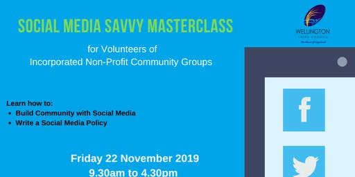 Social Media Savvy  Masterclass for Community Group Volunteers