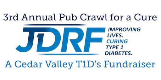 3rd Annual Cedar Valley JDRF Pub Crawl