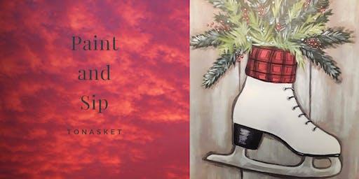 Paint and Sip Tea Tonasket: Skating Through the Holidays