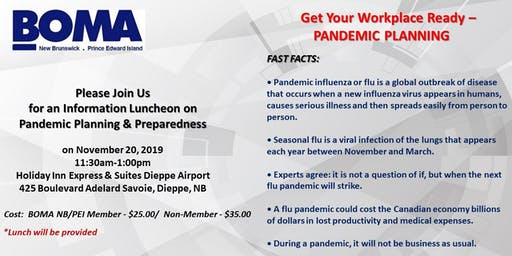 Get your workplace ready- Pandemic Planning
